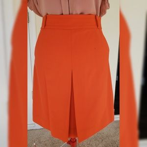Orange Kate Spade skirt with front pleat